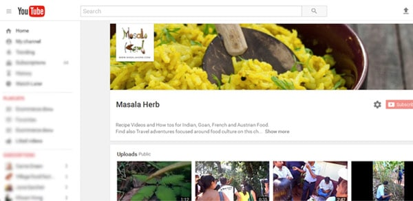 Masala Herb Recipe Videos - Youtube Channel www.MasalaHerb.com