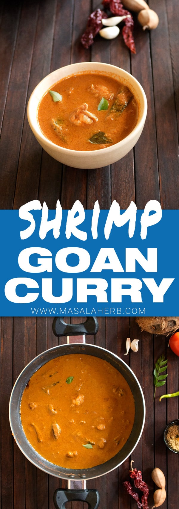 Goan Shrimp Curry - How to make goan shrimp/prawn curry recipe  with video www.MasalaHerb.com #indianfood