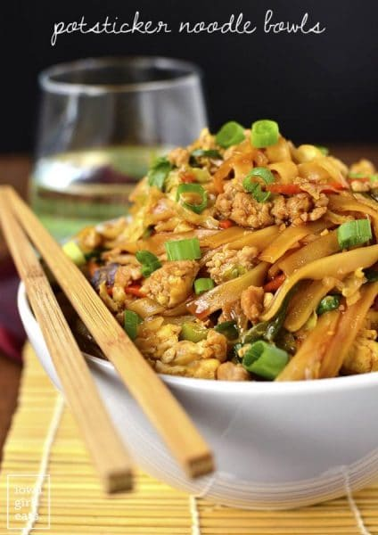 12 fantastic Stir-Fry Asian Noodle Dishes you need to try! Collection at MasalaHerb.com ---Potsticker Noodle Bowls iowagirleats.com