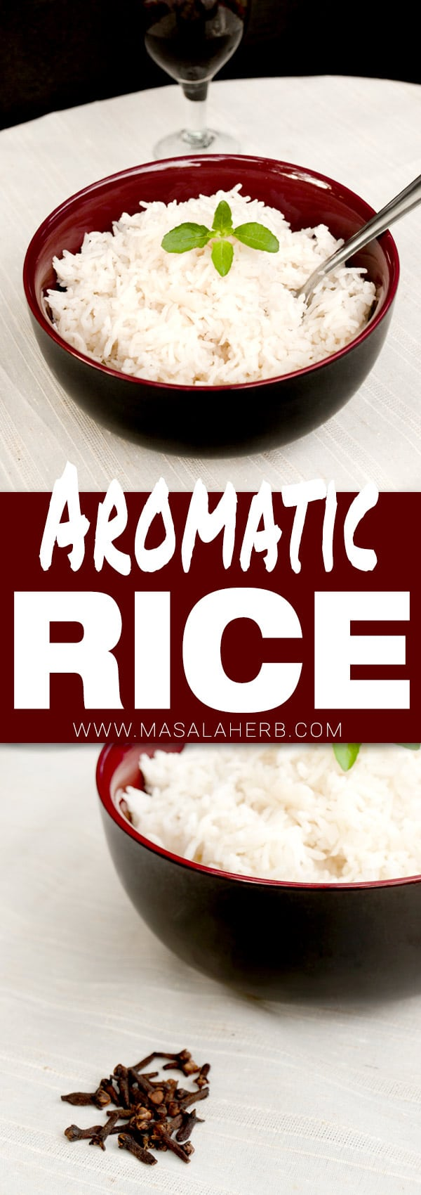 Fragrant Rice Recipe with Clove - Easy Aromatic Rice Side Dish - How to make fragrant rice www.MasalaHerb.com #rice #sidedish #masalaherb