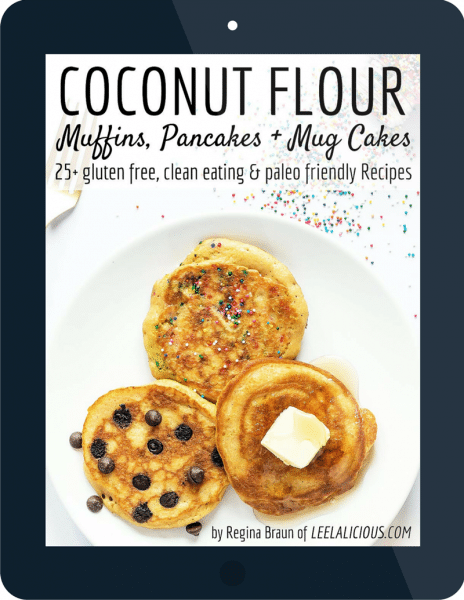 ebook review + giveaway coconut flour muffins pancakes and cup cakes by Regina Braun from leelalicious.com