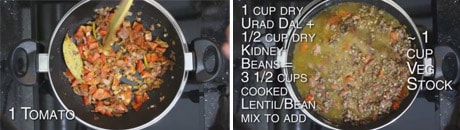 Dal Makhani Recipe - How to make Dal Makhani Curry + Video - Spiced Indian Butter Urad Dal Black Lentil Gravy step by step instructions www.MasalaHerb.com