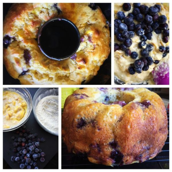 9 amazing Vegetarian Jackfruit Recipes & Ideas - Sweet & Savory Jackfruit Eats to discover! www.MasalaHerb.com - Jackfruit and blueberry bundt cake by recipenomad.com