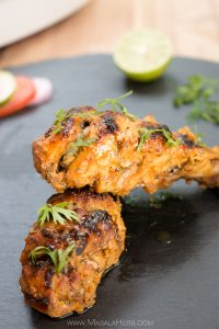 Oven Baked Tandoori Chicken Recipe | How to make easy Tandoori Chicken with Marinade. I share my tips, step by step instructions and a video to make perfect tasty and easy chicken tandoori at home. The ingredients for this Indian tandoori chicken recipe are commonly found anywhere in the world. www.MasalaHerb.com
