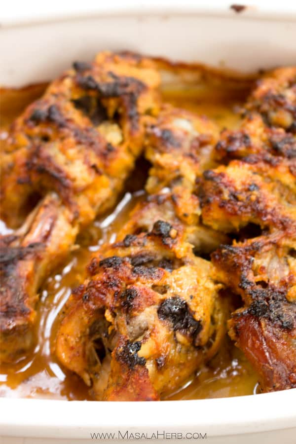 To make a marinade for chicken, combine your preferred spices and herbs in a one-to-one ratio, plus one half part salt. Then, add enough liquid to cover the herbs and spices. You can use one liquid, or mix and match in a one-to-one ratio.