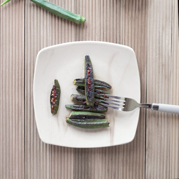 Stuffed Okra with Goan Recheado Paste