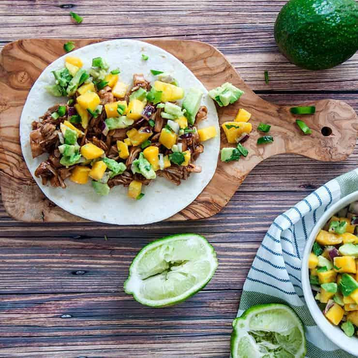 BBQ Jackfruit Tacos with Mango Salsa