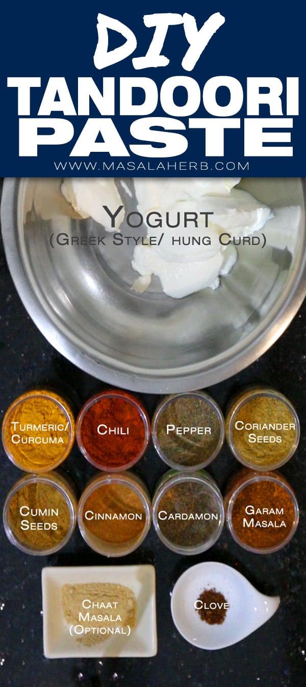 Homemade Tandoori Paste Sauce Recipe