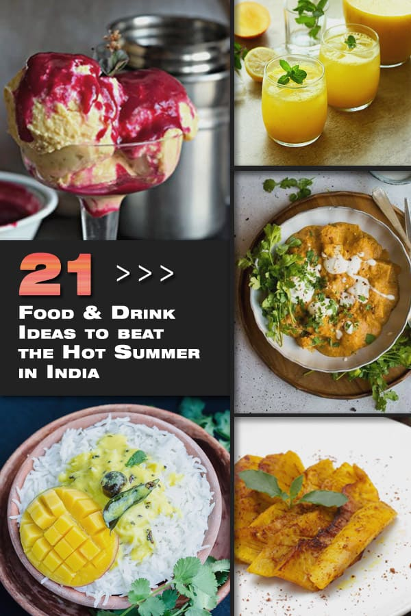 21 Food & Drink Ideas to beat the Steaming Hot Summer in India - handpicked roundup collection from food blogger www.MasalaHerb.com
