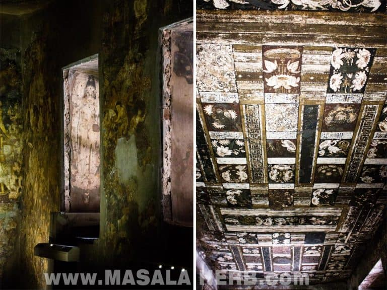 Wall and ceiling paintings Ajanta Caves - The Lost World - Breathtaking Ancient Indian Paintings & Sculptures www.MasalaHerb.com