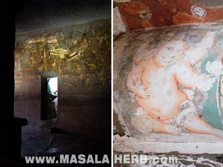 Wall PaintingsAjanta Caves - The Lost World - Breathtaking Ancient Indian Paintings & Sculptures www.MasalaHerb.com