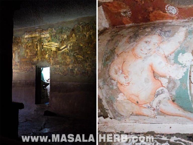 Wall PaintingsAjanta Caves - The Lost World - Breathtaking Ancient Indian Paintings & Sculptures www.MasalaHerb.com