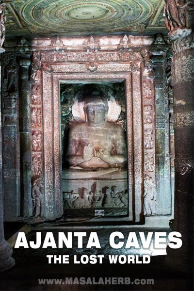Buddha in Meditation Ajanta Caves - The Lost World - Breathtaking Ancient Indian Paintings & Sculptures www.MasalaHerb.com