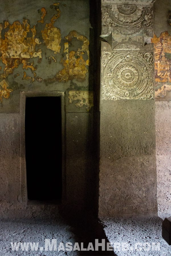 secrete chamber Ajanta Caves - The Lost World - Breathtaking Ancient Indian Paintings & Sculptures www.MasalaHerb.com