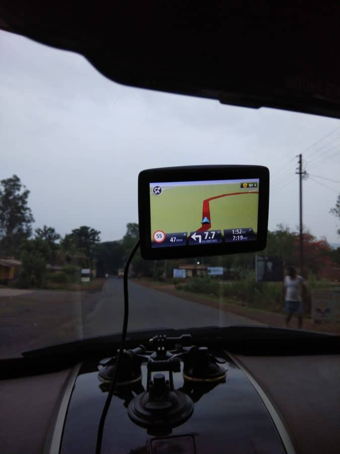 Navigation system device GPRS - Road Trip Goa to Himachal, Manali - Travel Route planning Guide Checklist for Adventure trip to Himalayas India www.MasalaHerb.com