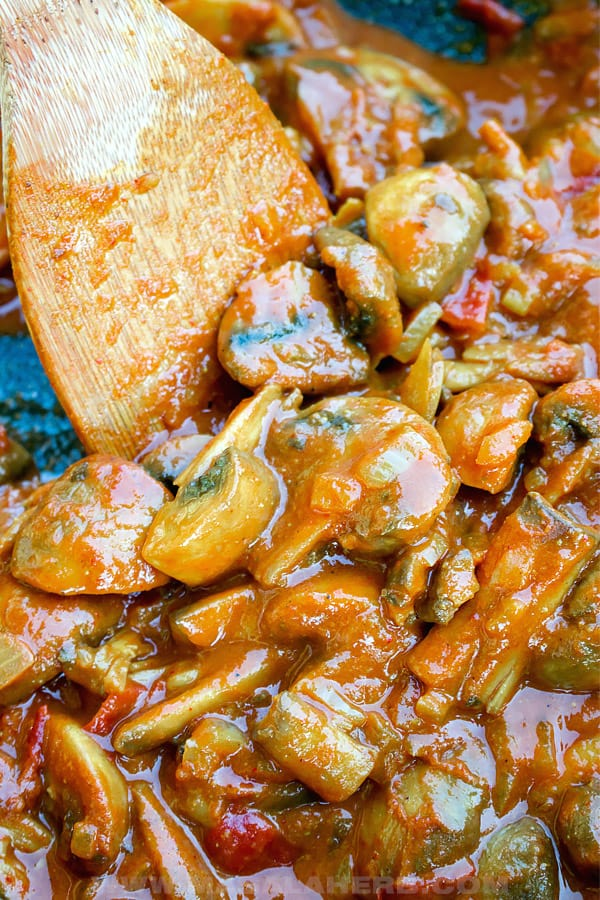 one pot mushroom tikka masala cooked