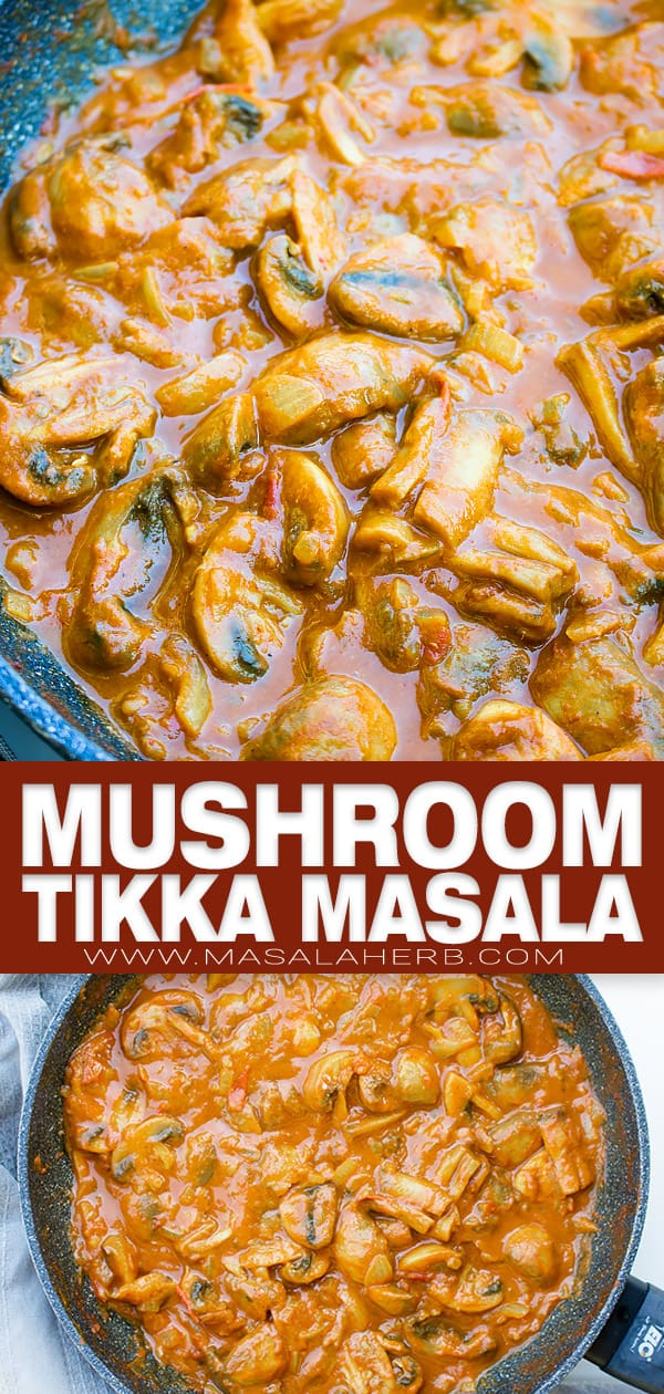 Mushroom Tikka Masala curry pin