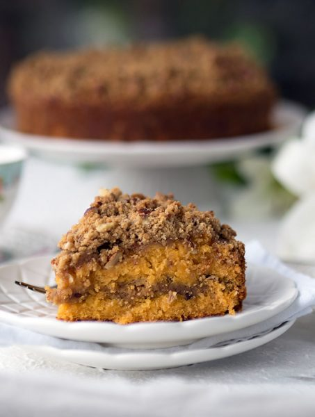 10+ Papaya Recipes that will make you want to have more! - PAPAYA PECAN STREUSEL CAKE- Roundup Collection at www.MasalaHerb.com