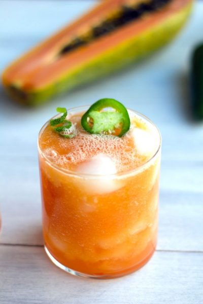 10+ Papaya Recipes that will make you want to have more! - Tropical Papaya Jalapeño Refresher- Roundup Collection at www.MasalaHerb.com
