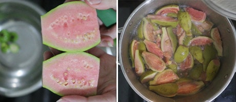 Guava Cheese Recipe aka Guava Paste Vegan [+Video] what are Guavas? how to eat Guava? Guavas health benefits. Guavas juice. Guava Jam. www.MasalaHerb.com #masalaherb #tropicalfruits #vegan #sweets