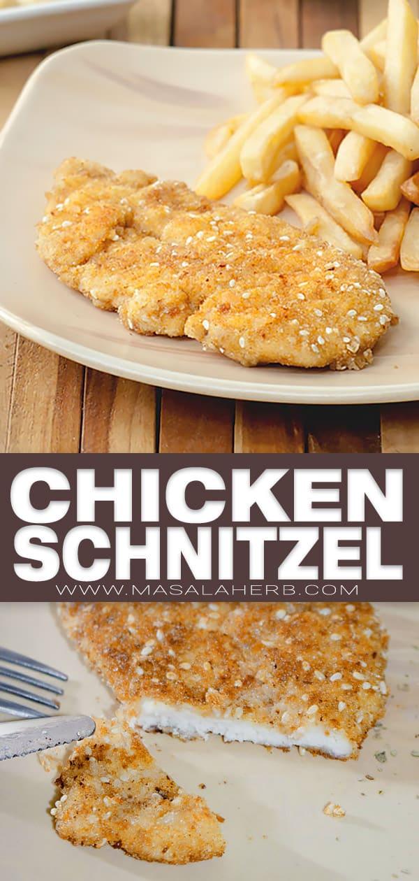 Chicken Schnitzel with Sesame image pin