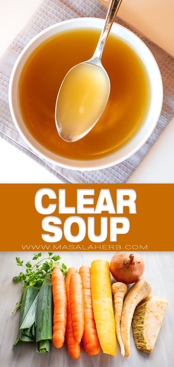 how to make clear soup pin image