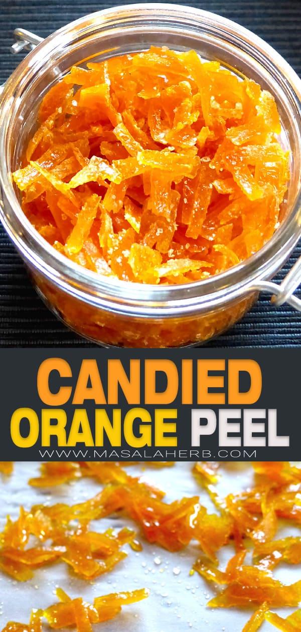 Candied Orange Peel pin image