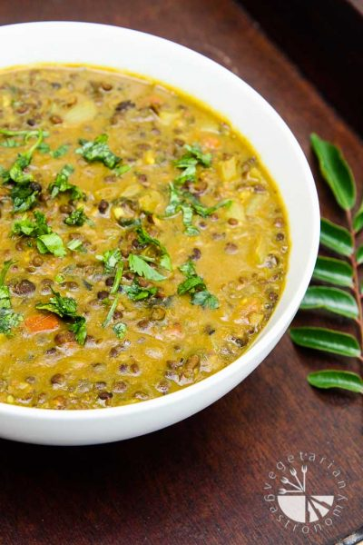 +17 Indian Lentil Recipes - Collection of Easy Dal Dishes [Healthy] CURRIED BLACK LENTIL (URAD) SOUP
