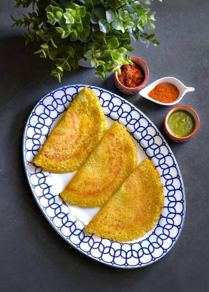 +17 Indian Lentil Recipes - Collection of Easy Dal Dishes [Healthy] Instant Multigrain Pesto Dosa (Savory Indian Crepes)