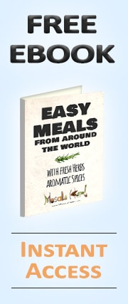 FREE EBOOK - Easy Meals from around the world www.MasalaHerb.com
