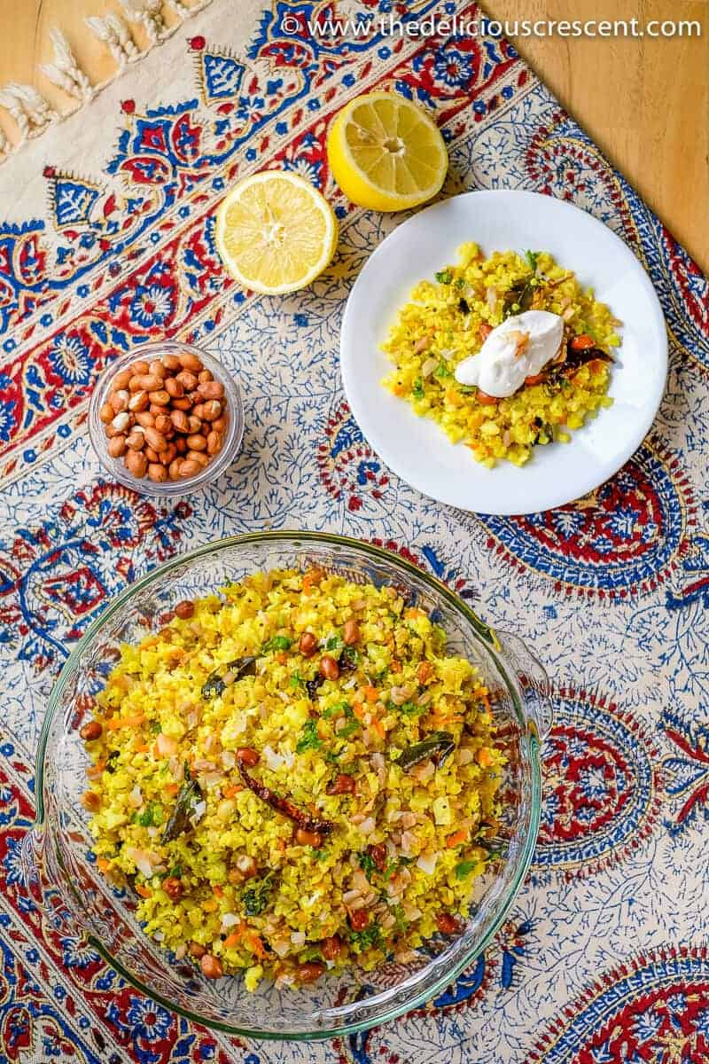 +15 Indian Cauliflower Recipes - INDIAN STYLE CAULIFLOWER LEMON RICE