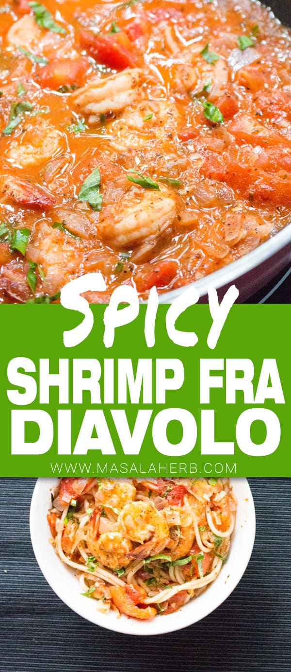 One Pot Shrimp Fra Diavolo Recipe Easy & Quick - Spicy Shrimp Diablo Sauce for pasta, rice or polenta/grits