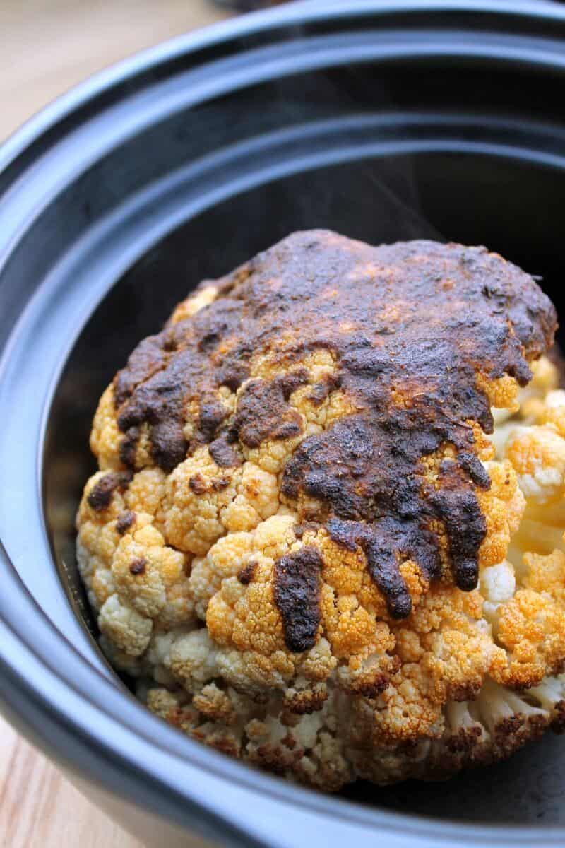 +15 Indian Cauliflower Recipes - SLOW COOKER WHOLE SPICED CAULIFLOWER