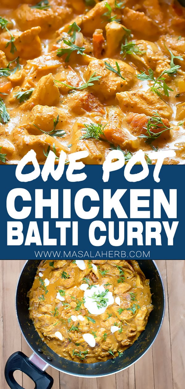 BEST Chicken Balti Recipe - British Curry [+Video]
