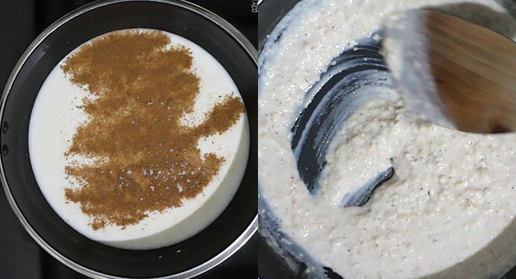 season and thicken porridge