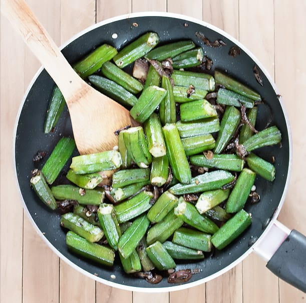 10 Minute Pan Fried Okra Recipe Video Masala Herb