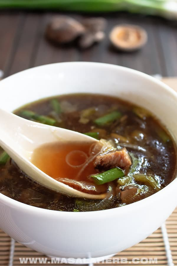 Japanese Onion Soup Recipe with Mushrooms