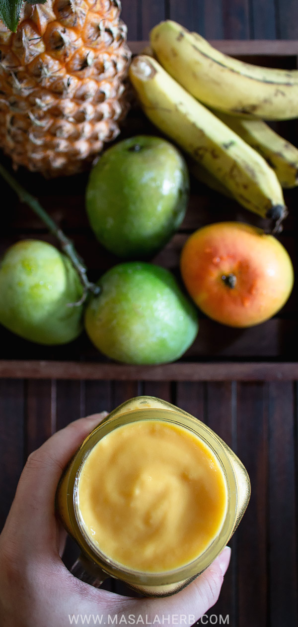 Mango Pineapple Banana Smoothie