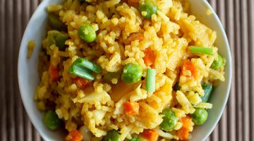 Thai Pineapple Fried Rice Recipe [Vegetarian]