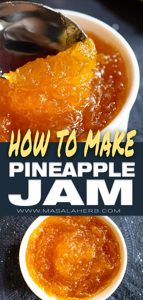 How to make Pineapple Jam with 2 ingredients [Natural]