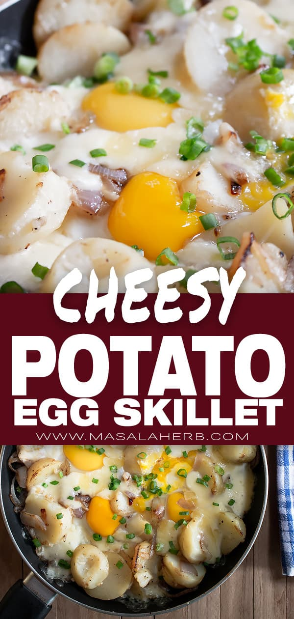 Cheese Eggs and Potatoes Skillet Recipe