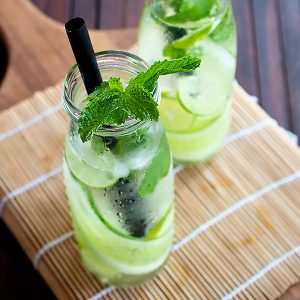 Fresh Lemon Cucumber Mint Water