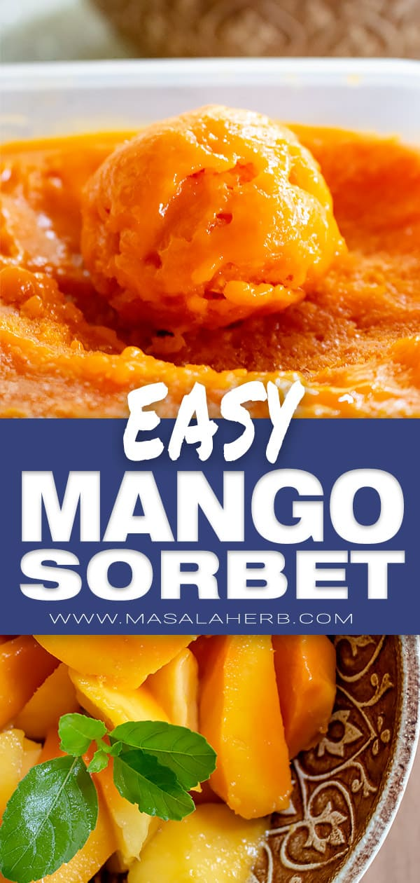 Easy Mango Sorbet Recipe