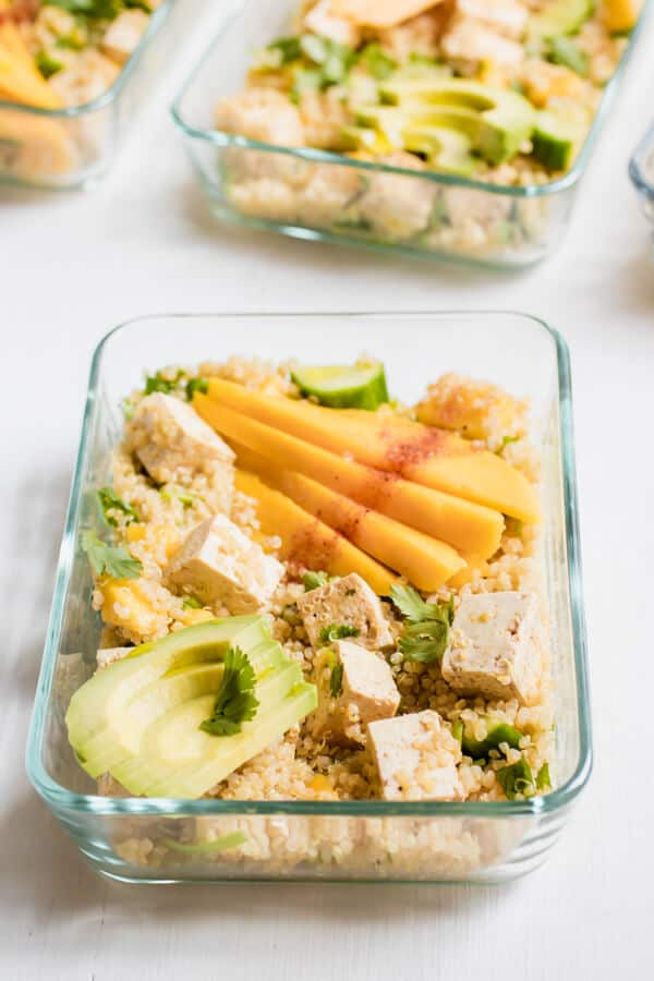 Chili-Lime Mango Quinoa Salad with Tofu