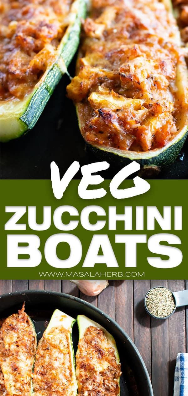 Easy Zucchini Boats Recipe [Vegetarian]