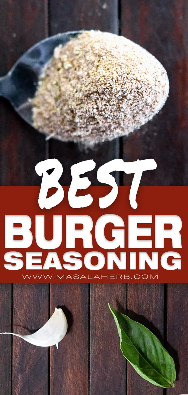 BEST Burger Seasoning Recipe