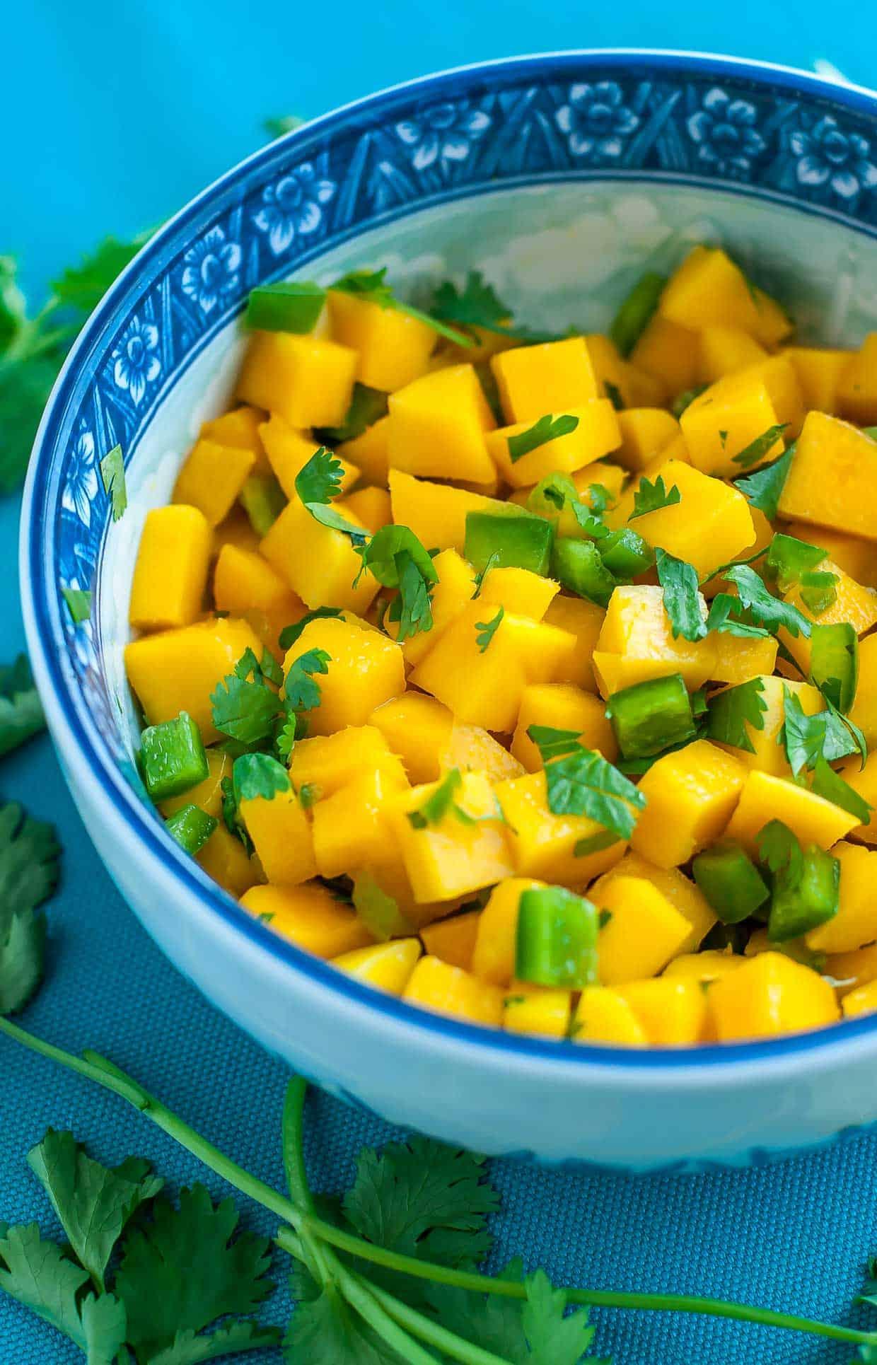 5 ingredient Mango Jalapeno Salsa