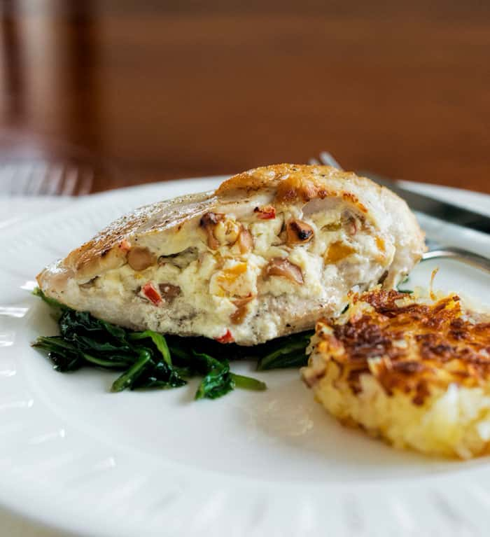 Mango and Macadamia Nuts stuffed Chicken