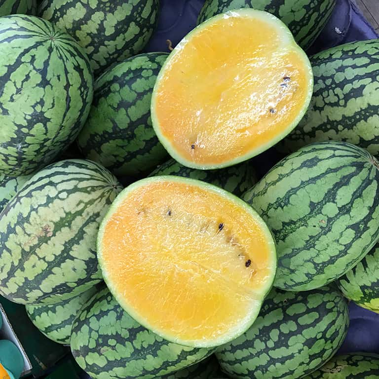 Yellow Watermelon - Tropical Fruits you didn't know existed! [List and pictures]