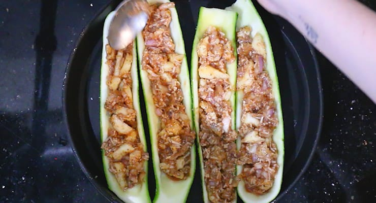 stuff hollow zucchini boats
